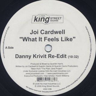 Joi Cardwell / What It Feels Like (Danny Krivit Re-Edit) back