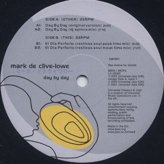 Mark De Clive-Lowe / Day By Day label