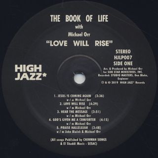 Michael Orr And The Book Of Life / Love Will Rise label