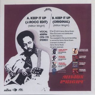 Milton Wright / Keep It Up (J.Rocc Edit) back