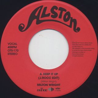 Milton Wright / Keep It Up (J.Rocc Edit) label