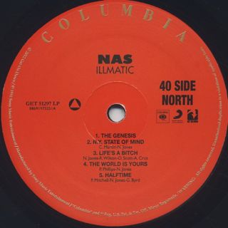 Nas / Illmatic label