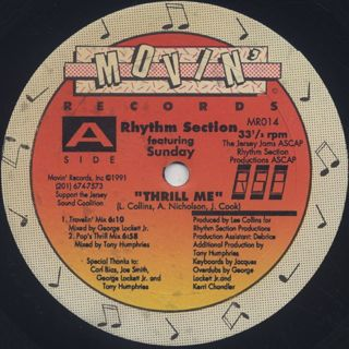 Rhythm Section / Thrill Me front