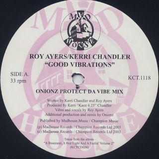 Roy Ayers/Kerri Chandler - Good Vibrations back