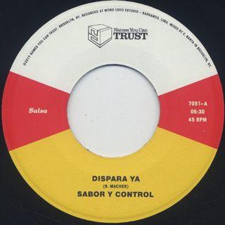 Sabor Y Control / Dispara Ya back