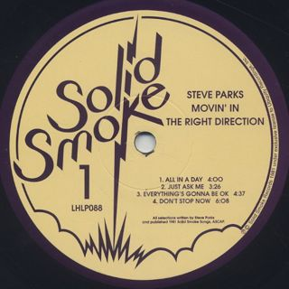 Steve Parks / Movin' In The Right Direction label