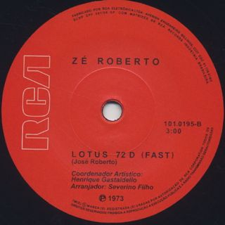 Zé Roberto / Lotus 72 D label
