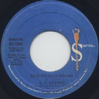 B.T. Express / Do It ('Til You're Satisfield) front