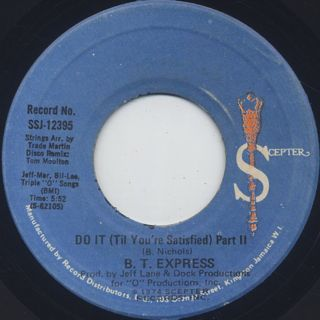B.T. Express / Do It ('Til You're Satisfield) back