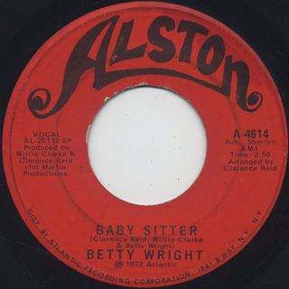 Betty Wright / Baby Sitter c/w Outside Woman