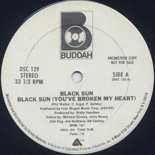 Black Sun / Black Sun (You've Broken My Heart) back