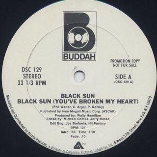 Black Sun / Black Sun (You've Broken My Heart) label