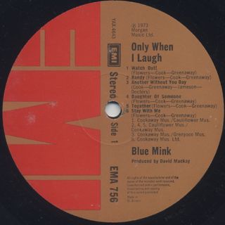 Blue Mink / Only When I Laugh... label