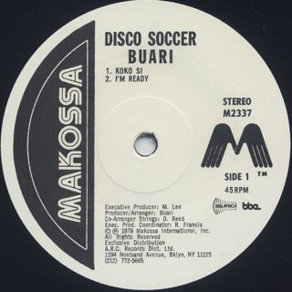 Buari / Disco Soccer (2LP) label