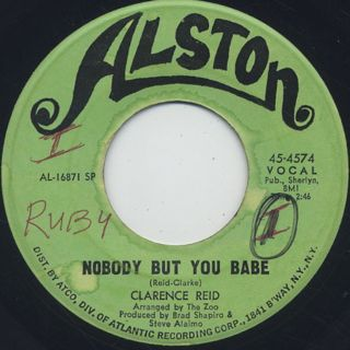 Clarence Reid / Nobody But You Babe c/w Send Me Back My Money