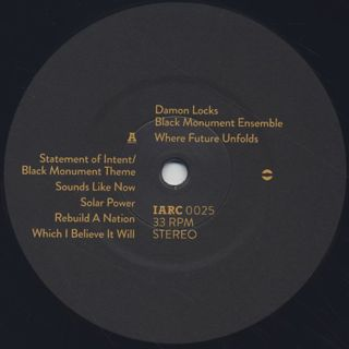 Damon Locks Black Monument Ensemble / Where Future Unfolds label