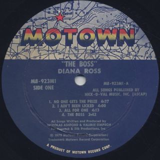 Diana Ross / The Boss label