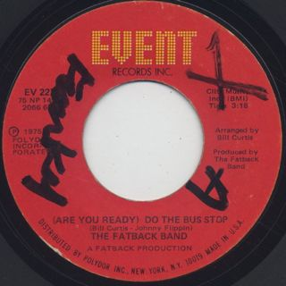 Fatback Band / (Are You Ready) Do The Bus Stop