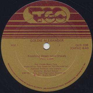 Goldie Alexander / Knocking Down Love back