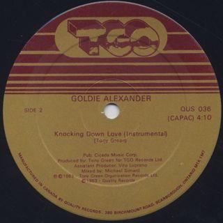 Goldie Alexander / Knocking Down Love label