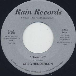 Greg Henderson / Dreamin
