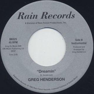 Greg Henderson / Dreamin back