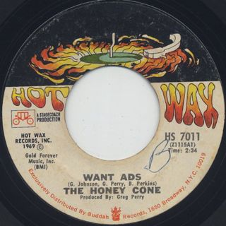 Honey Cone / Want Ads c/w We Belong Together
