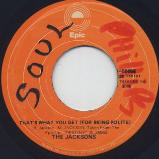 Jacksons / Shake Your Body(Down To The Ground) back