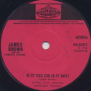 James Brown / It's Man's, Man's, Man's World back