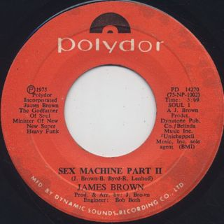 James Brown / Sex Machine Part I back