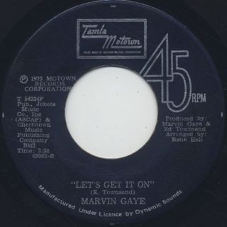 Marvin Gaye / Let's Get It On c/w I Wish It Would Rain front