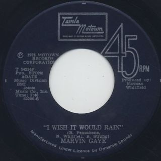 Marvin Gaye / Let's Get It On c/w I Wish It Would Rain back