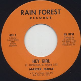 Master Force / Hey Girl c/w Don't Fight The Feeling
