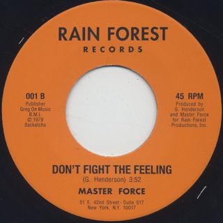 Master Force / Hey Girl c/w Don't Fight The Feeling back
