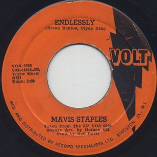Mavis Staples / Endlessly c/w Don't Change Me Now
