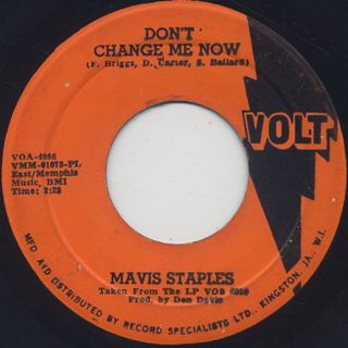 Mavis Staples / Endlessly c/w Don't Change Me Now back
