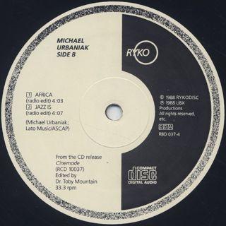 Michael Urbaniak / Cinemode 4 Track Sampler label