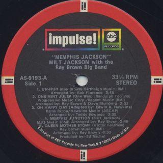 Milt Jackson / Memphis Jackson label