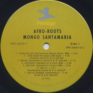 Mongo Santamaria / Afro Roots label