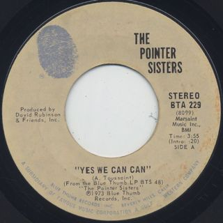 Pointer Sisters / Yes We Can Can (7