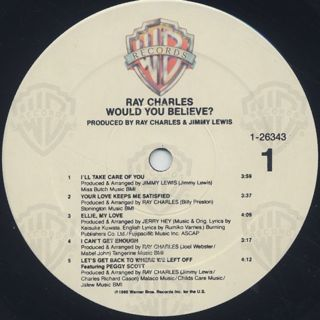 Ray Charles / Would You Believe ? label