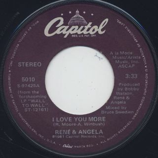 Rene & Angela / I Love You More front