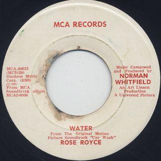 Rose Royce / Car Wash back