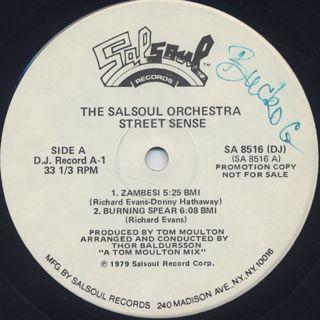 Salsoul Orchestra / Street Sense (2LP) label