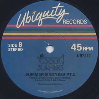 Soul Surfers / Summer Madness Pt.1 & 2 label