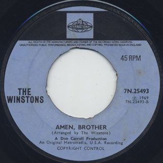 Winstons / Color Him Father c/w Amen, Brother