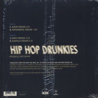 Alkaholiks Featuring Ol' Dirty Bastard / Hip Hop Drunkies back