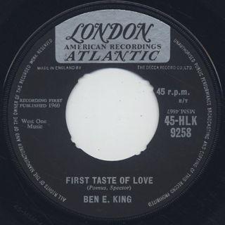 Ben E. King / Spanish Harlem c/w First Taste Of Love back