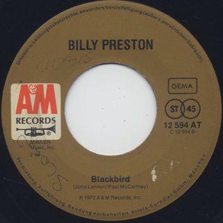 Billy Preston / Will It Go Round In Circles c/w Blackbird back