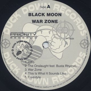 Black Moon / War Zone label